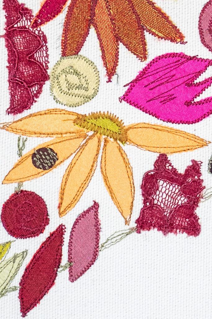 Ausschnitt Stoffart Bild Die kleine Blume